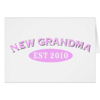 New Grandma 2010 Card