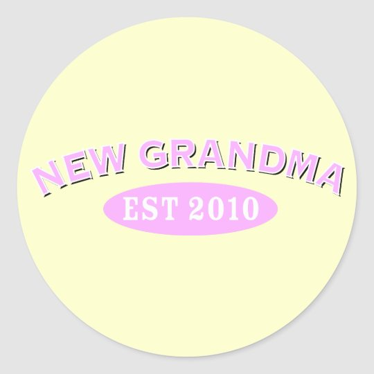 New Grandma 2010 Classic Round Sticker