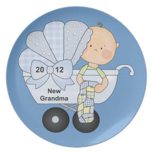 New Grandma 2012 (blue) Party Plate