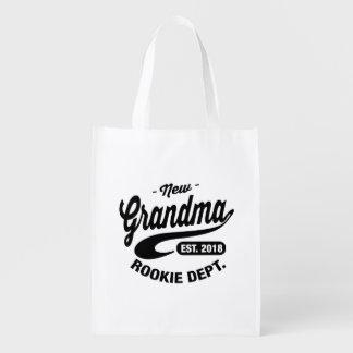 New Grandma 2018 Reusable Grocery Bag