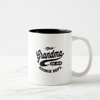 New Grandma 2018 Two-Tone Coffee Mug