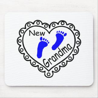 New Grandma Baby Boy Heart Mousepads