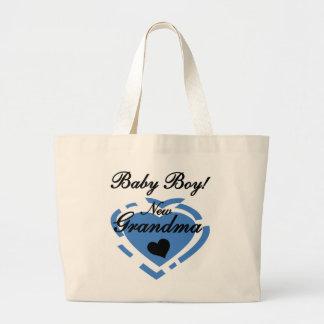 New Grandma Baby Boy Tshirts and Gifts Tote Bags