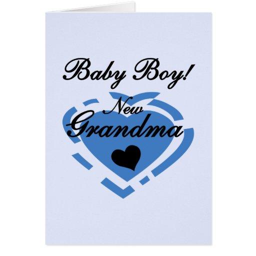 New Grandma Baby Boy Tshirts and Gifts Card