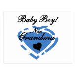 New Grandma Baby Boy Tshirts and Gifts Post Cards