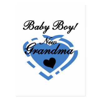 New Grandma Baby Boy Tshirts and Gifts Postcard