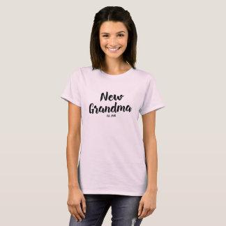 New Grandma Est. 2018, Future Grandmother Gift Tee