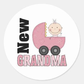 New Grandma Gift Classic Round Sticker