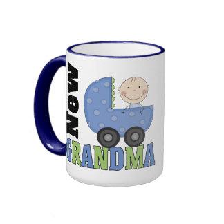 New Grandma Gift Ringer Coffee Mug