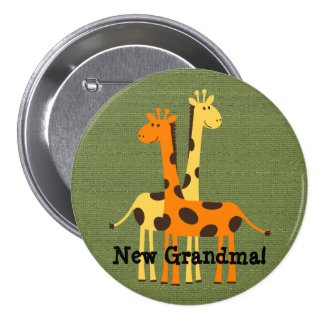 New Grandma Grandpa Aunt Uncle Cousin...Button
