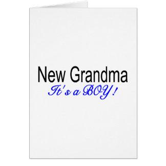 New Grandma Its A Boy Greeting Card