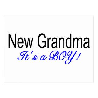 New Grandma Its A Boy Postcard