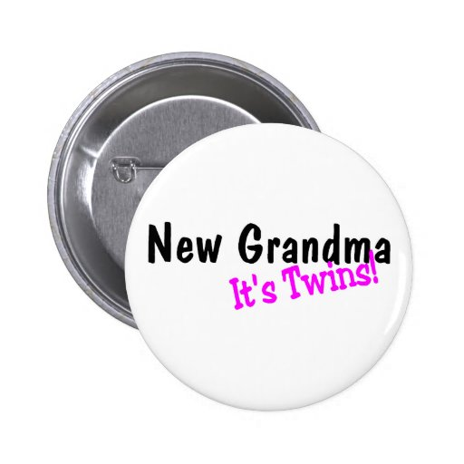 New Grandma Its Twins 2 Inch Round Button