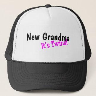 New Grandma Its Twins Trucker Hat