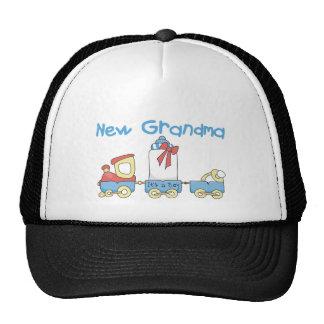 New Grandma of Boy-Train Tshirts and Gifts Trucker Hat