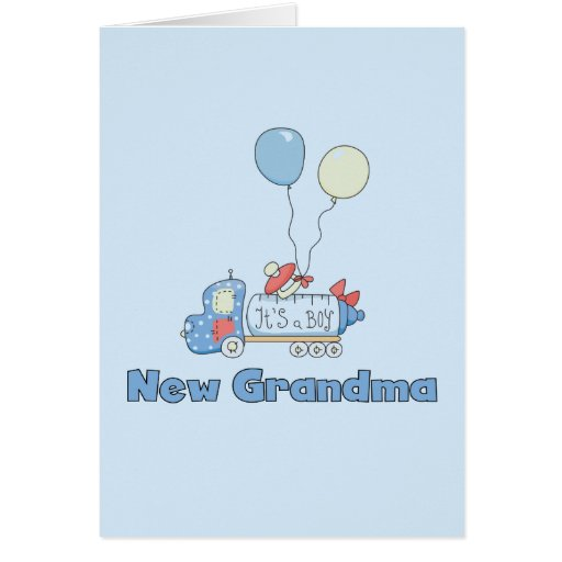 New Grandma of Boy Truck Tshirts and Gifts Greeting Cards