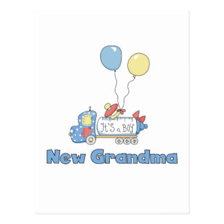 New Grandma of Boy Truck Tshirts and Gifts Postcards