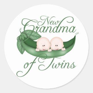 New Grandma Of Twins Classic Round Sticker
