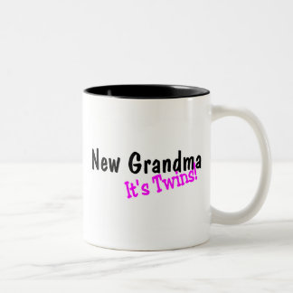 New Grandma Of Twins Two-Tone Coffee Mug