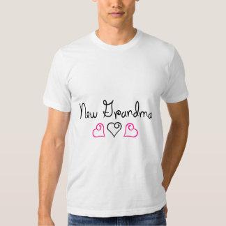 New Grandma Pink Black Hearts Shirt