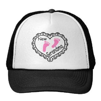 New Grandma Pink Heart Trucker Hat