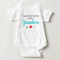 New Grandma Pregnancy Announcement Baby Bodysuit