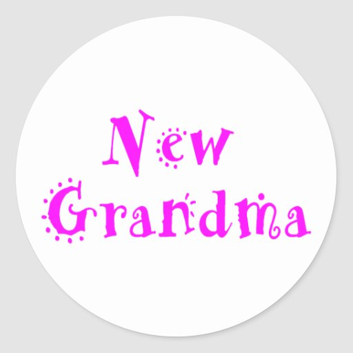 New Grandma Round Sticker