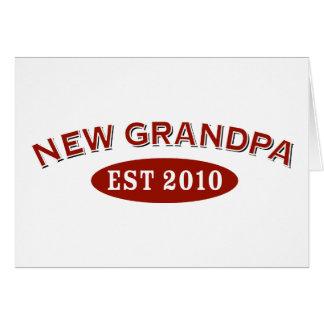 New Grandpa 2010 Greeting Card