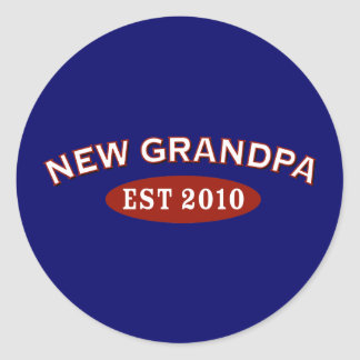 New Grandpa 2010 Classic Round Sticker