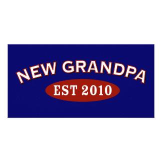 New Grandpa 2010 Customized Photo Card