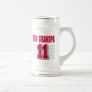 New Grandpa 2011 T-Shirt Gifts Beer Stein