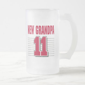 New Grandpa 2011 T-Shirt Gifts Frosted Glass Beer Mug