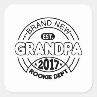 New Grandpa 2017 Square Sticker
