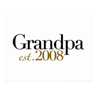 New Grandpa Est 2008 Postcard