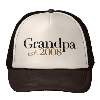 New Grandpa Est 2008 Trucker Hat