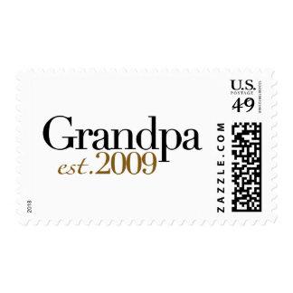 New Grandpa Est 2009 Postage Stamp