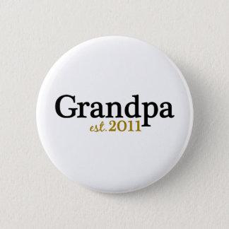 New Grandpa est 2011 Button