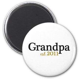 New Grandpa est 2011 Magnet