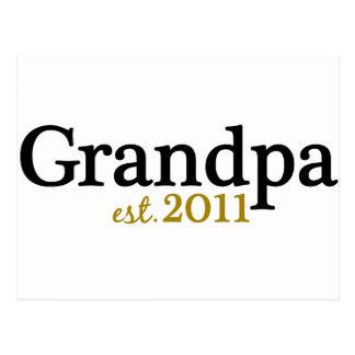 New Grandpa est 2011 Postcard