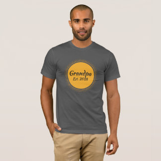 New Grandpa Est. 2018 Message, Sun Graphic T-Shirt