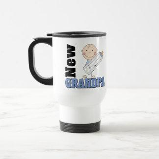 New Grandpa Gift 15 Oz Stainless Steel Travel Mug