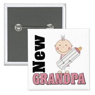 New Grandpa Gift Button