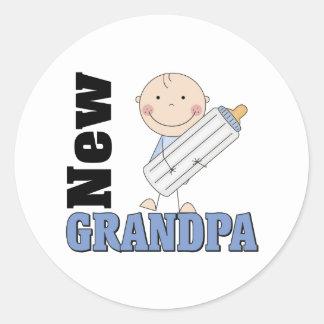 New Grandpa Gift Classic Round Sticker