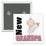 New Grandpa Gift Pinback Button