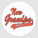 New Grandpa Grandfather 2012 Classic Round Sticker