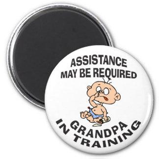 New Grandpa In Training Gift Refrigerator Magnet