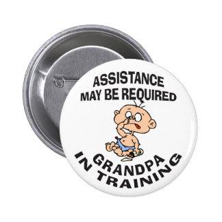 New Grandpa In Training Gift Pinback Button