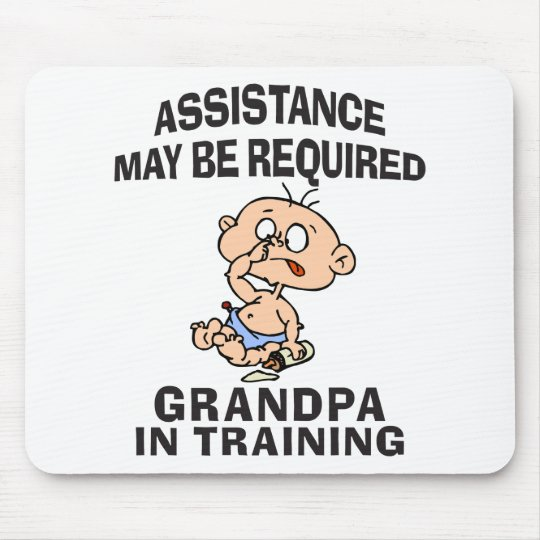 New Grandpa In Training Mouse Pad