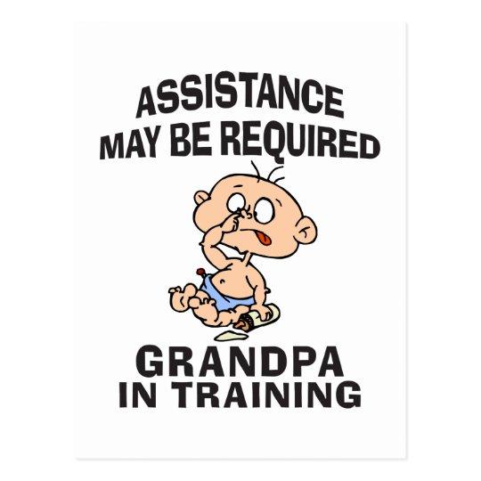New Grandpa In Training Postcard