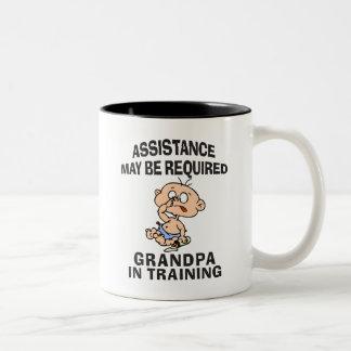 New Grandpa In Training Two-Tone Coffee Mug